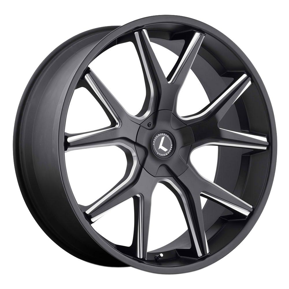 Kraze Wheels KR146 Spltz - Satin Black Milled Rim