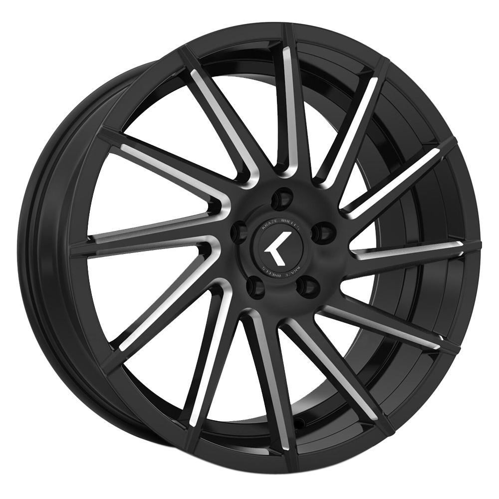 Kraze Wheels KR181 Spinner - Black Milled Rim
