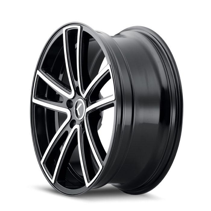 Kraze Wheels KR190 Lusso - Black Machined Rim