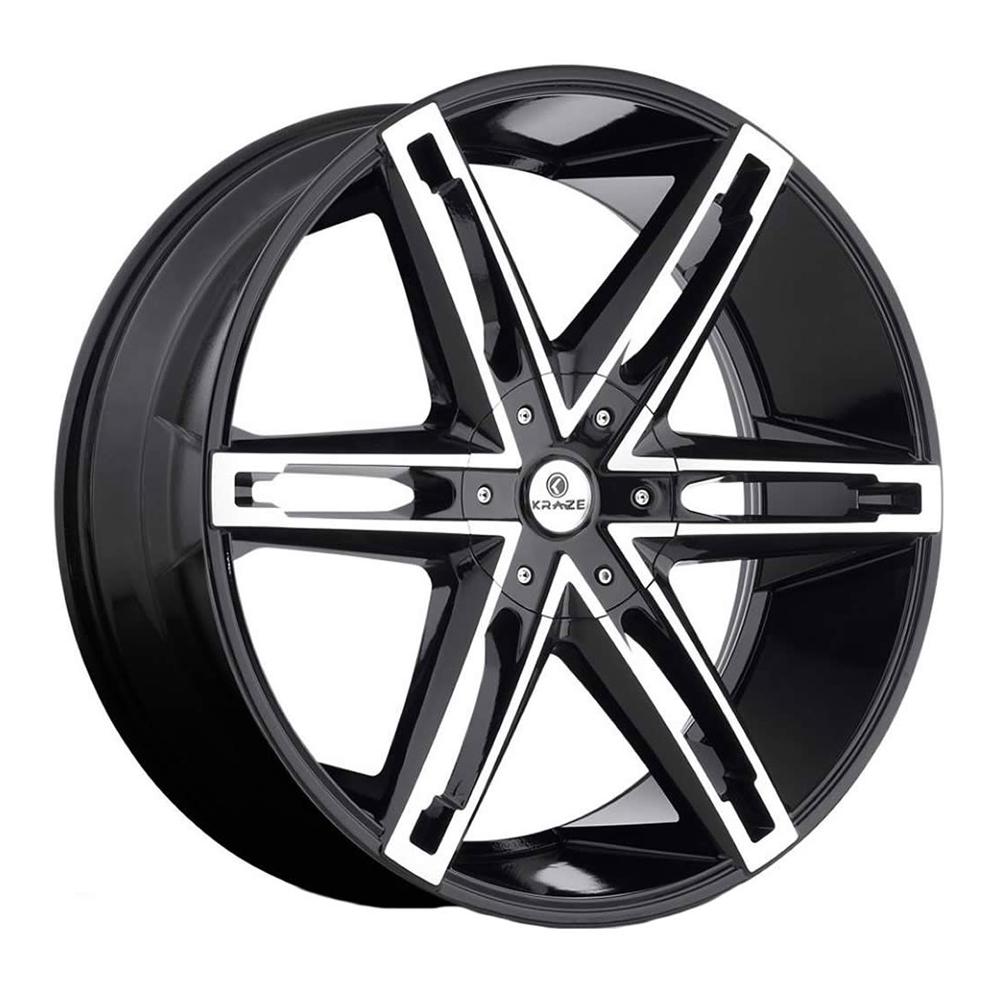 Kraze Wheels KR311 Mania - Black Machined Rim