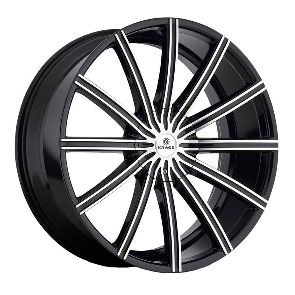 Kraze Wheels KR724 Passion - Black Machined Rim