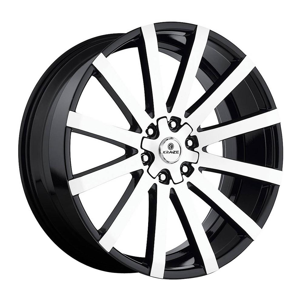 Kraze Wheels KR725 Desire - Black Machined Rim
