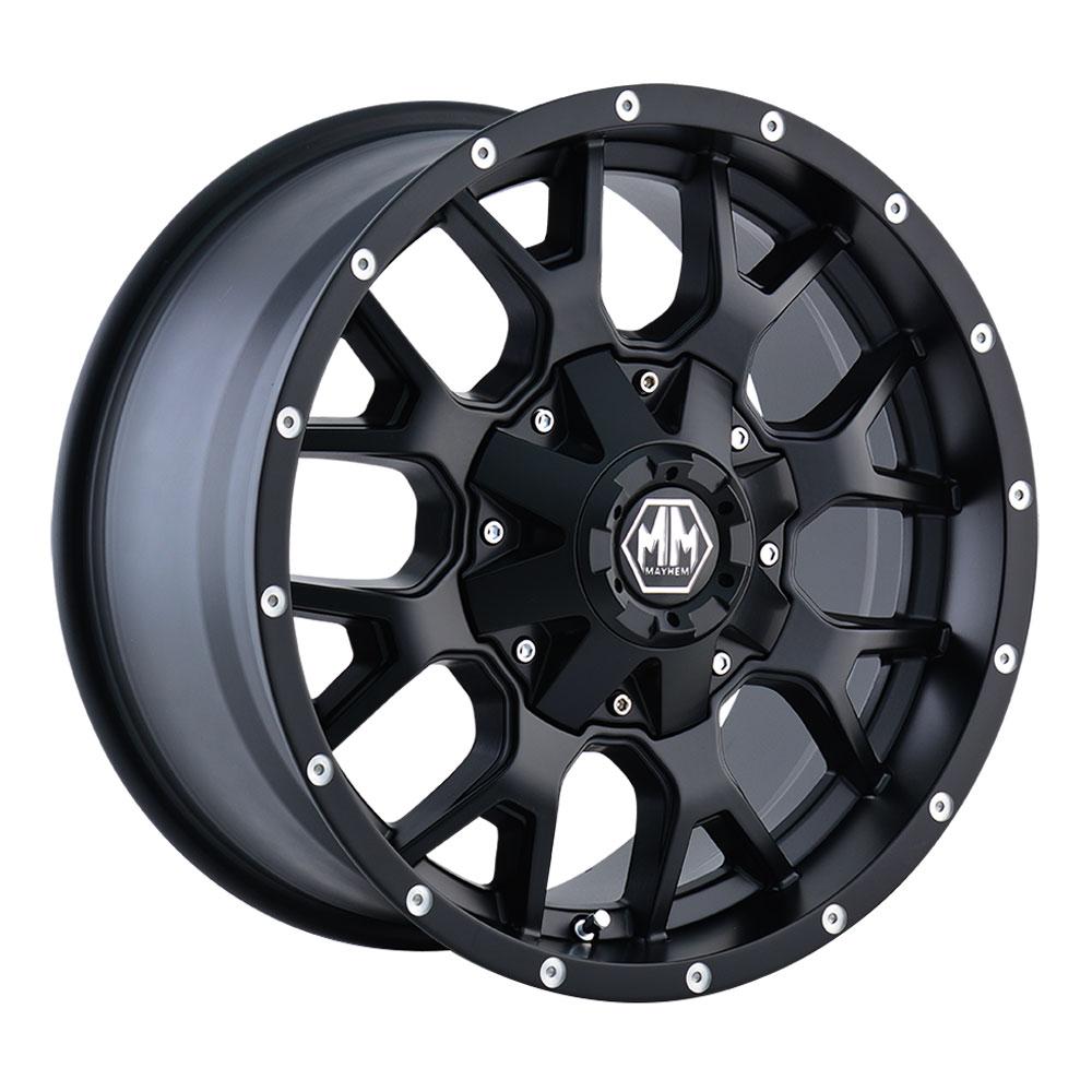 Mayhem Wheels 8015 Warrior - Matte Black Rim