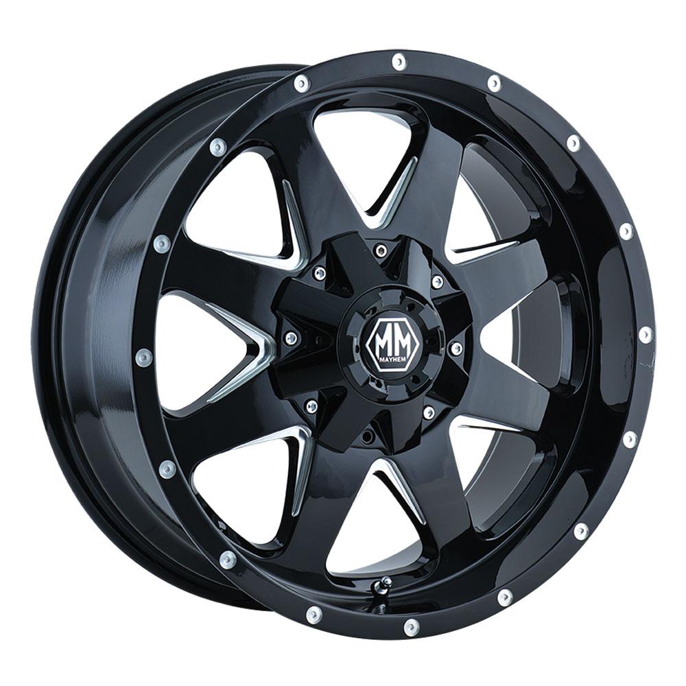 Mayhem Wheels 8040 Tank - Black w/Milled Spokes Rim