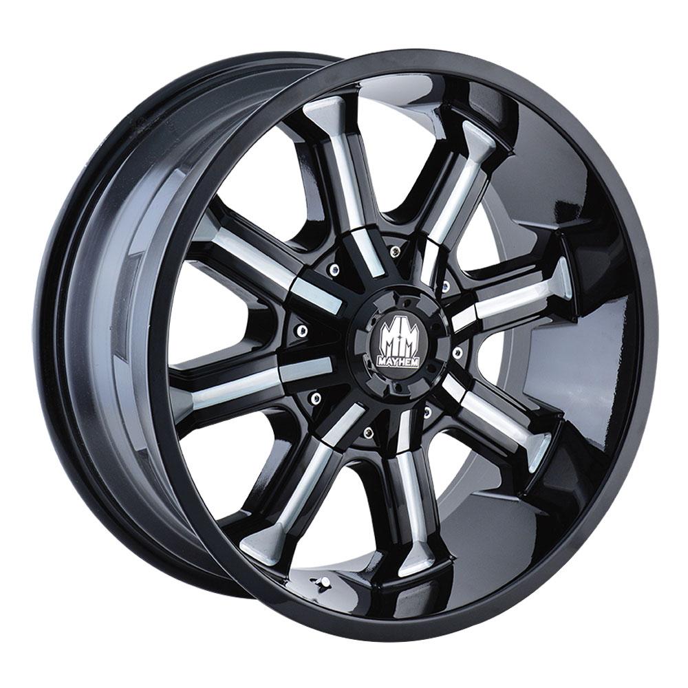Mayhem Wheels 8102 Beast - Black w/Milled Spokes Rim