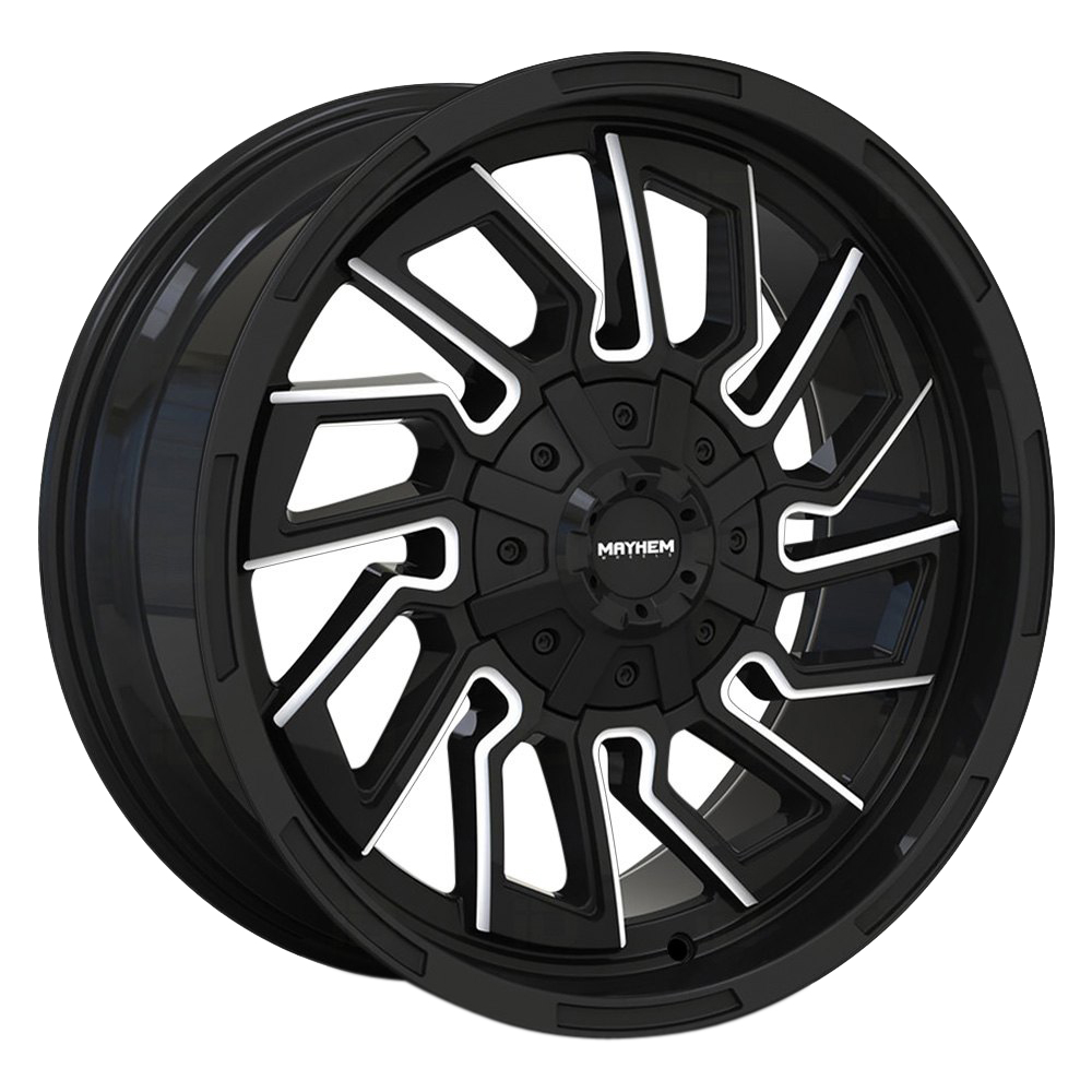 Mayhem Wheels 8111 Flywheel - Gloss Black/Milled Spokes
