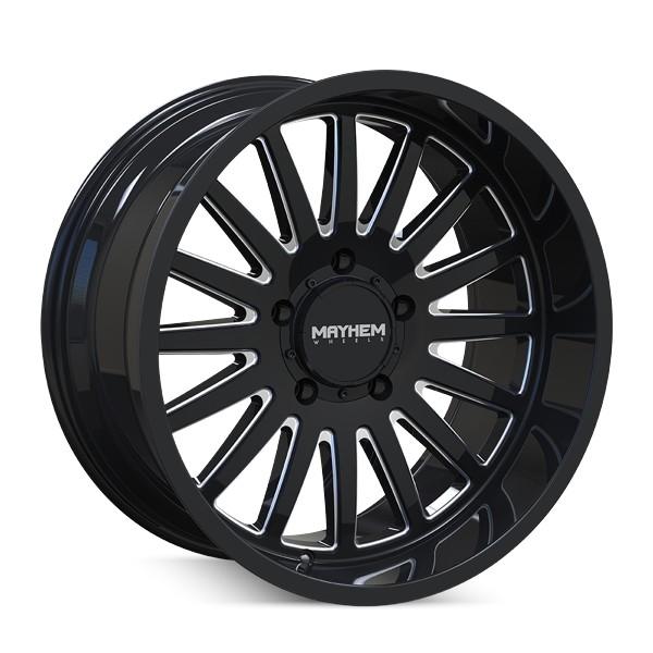 Mayhem Wheels 8114 Utopia - Black w/Milled Spokes Rim