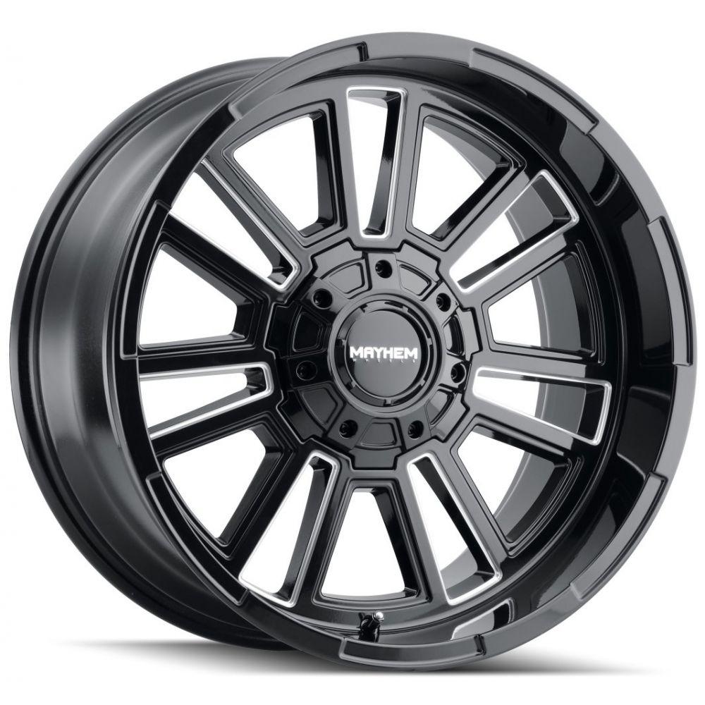 Mayhem Wheels 8115 Apollo - Black w/Milled Spokes Rim