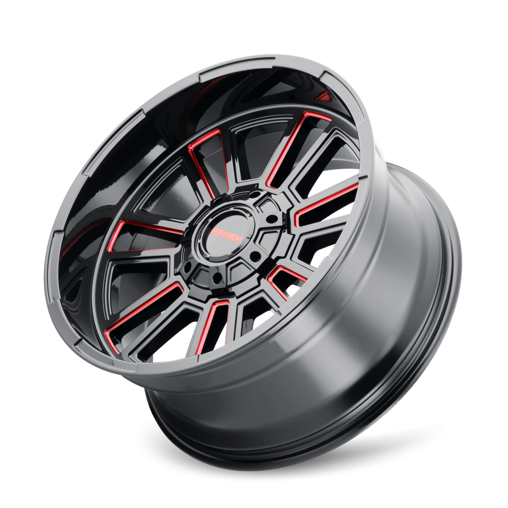 Mayhem Wheels 8115 Apollo - Black w/Prism Red Rim