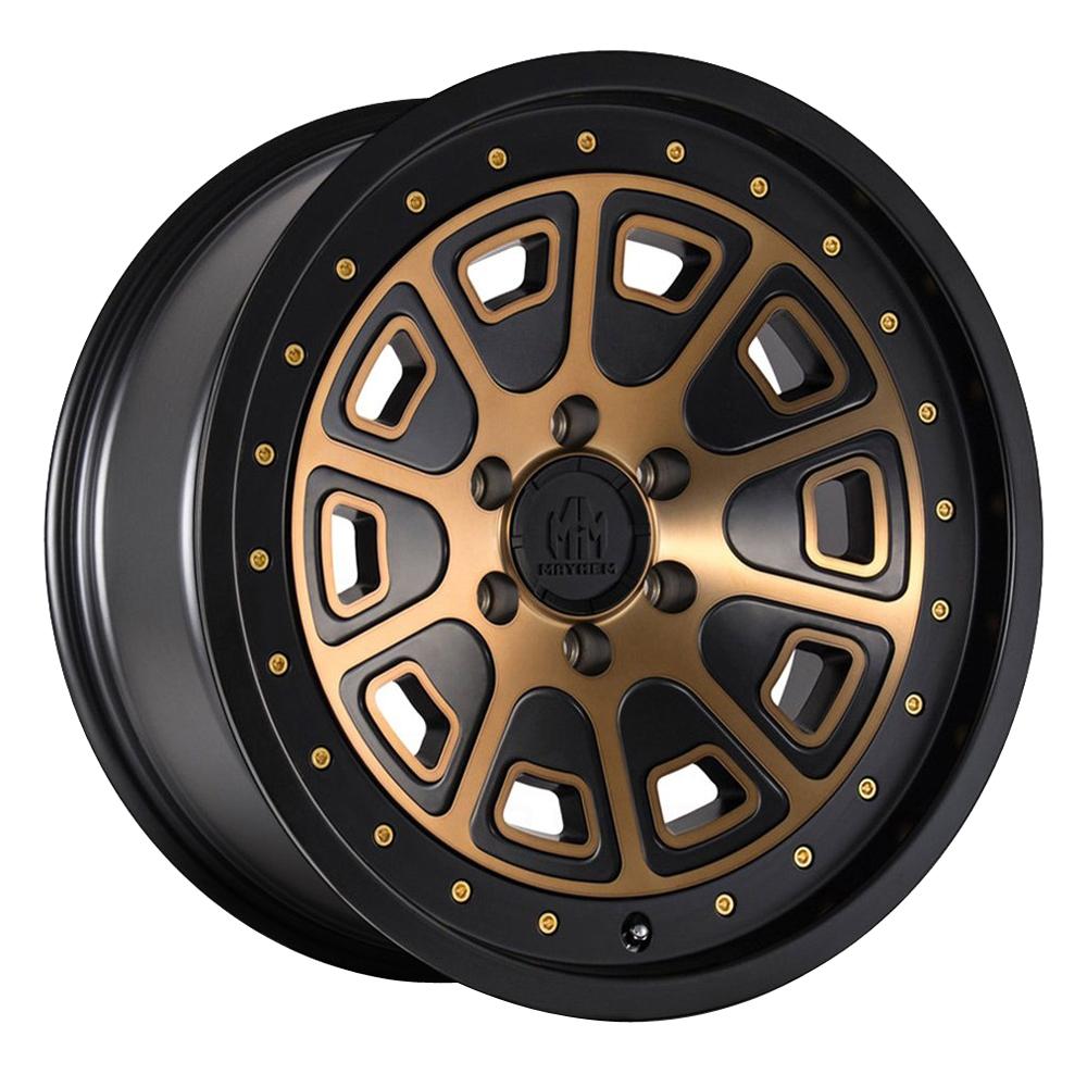 Mayhem Wheels 8301 Flat Iron - Matte Black w/Bronze Tint Rim