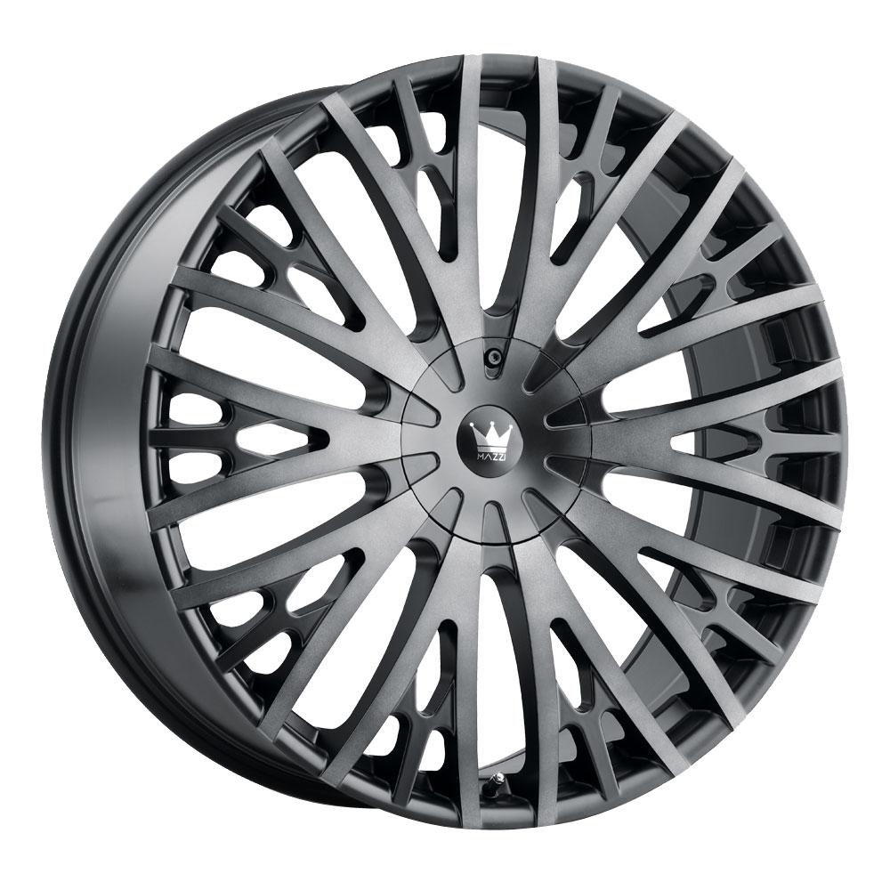 Mazzi Wheels Twist Tie 373 - Matte Black with Machined Dark Tint Rim
