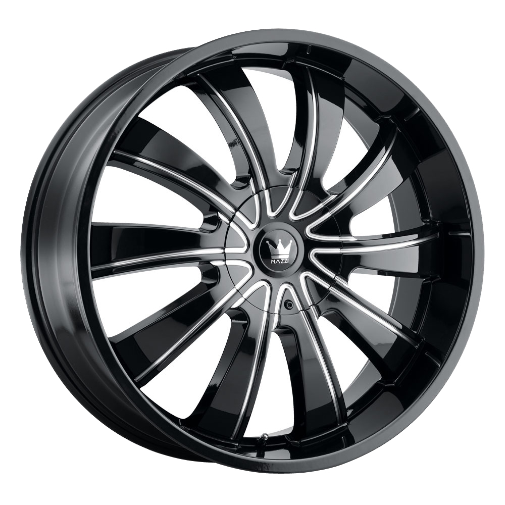 Mazzi Wheels Rolla 374 - Black/Milled Spokes Rim