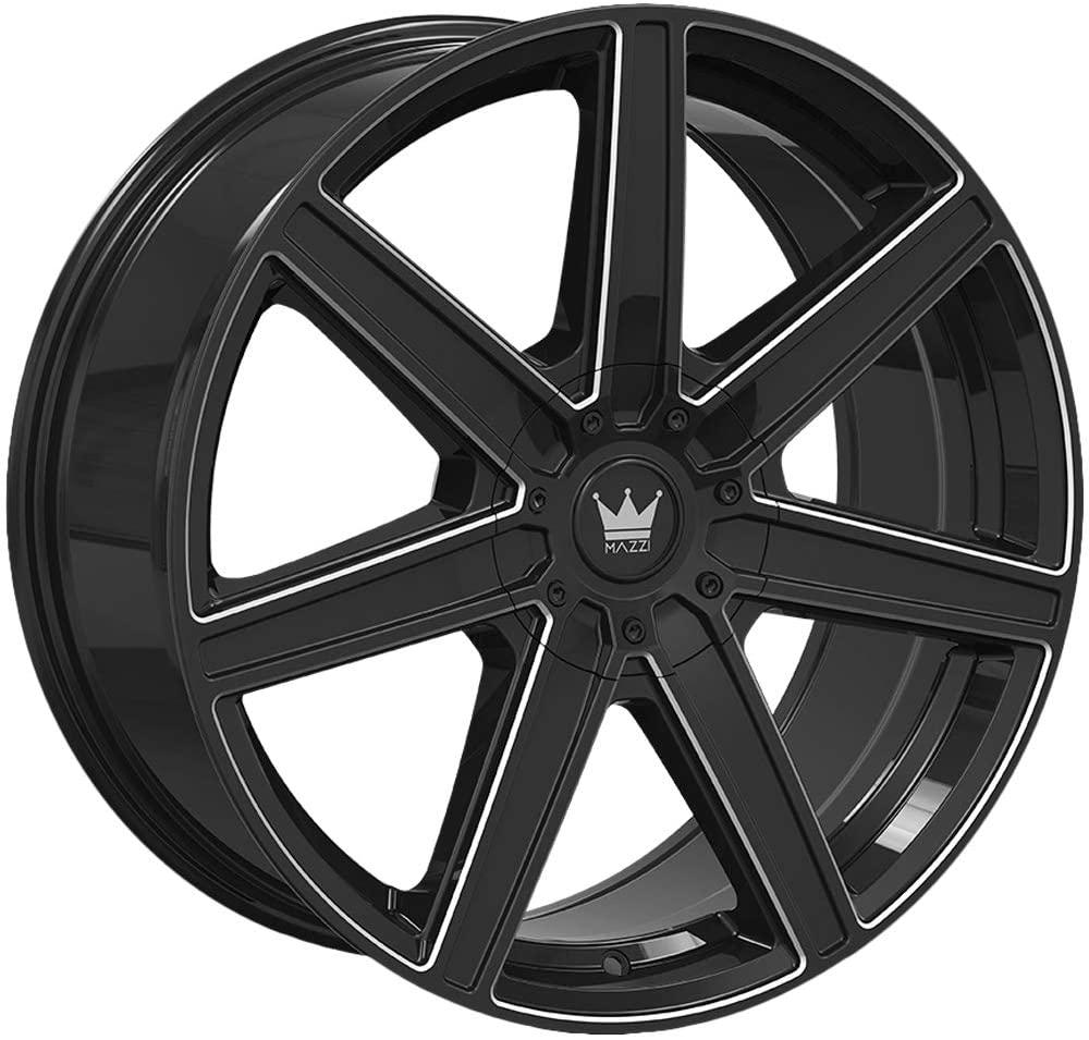 Mazzi Wheels Laguna 376 - Gloss Black/Milled Rim