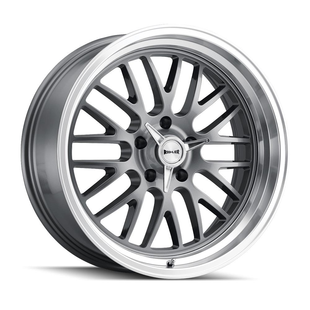 Ridler Wheels 607 - Grey W/Machined Lip Rim
