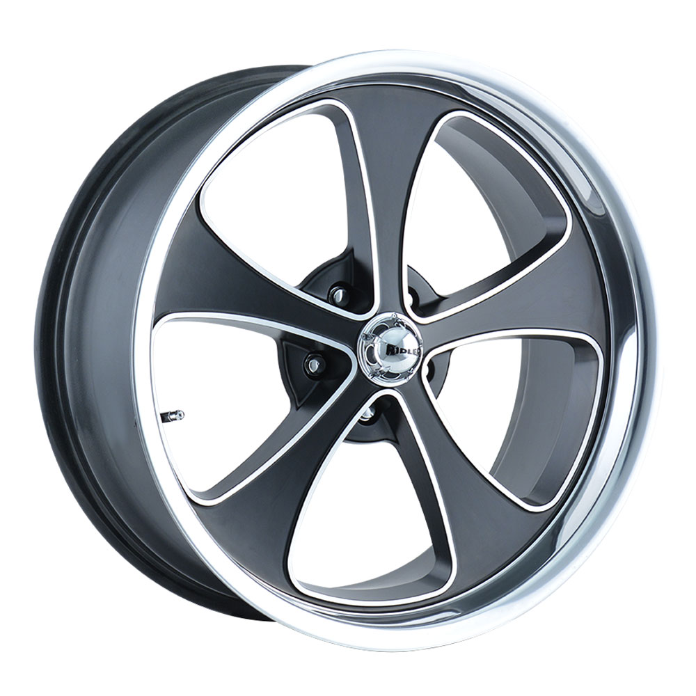 Ridler Wheels 645 - Matte Black w/Machined Face Polished Lip