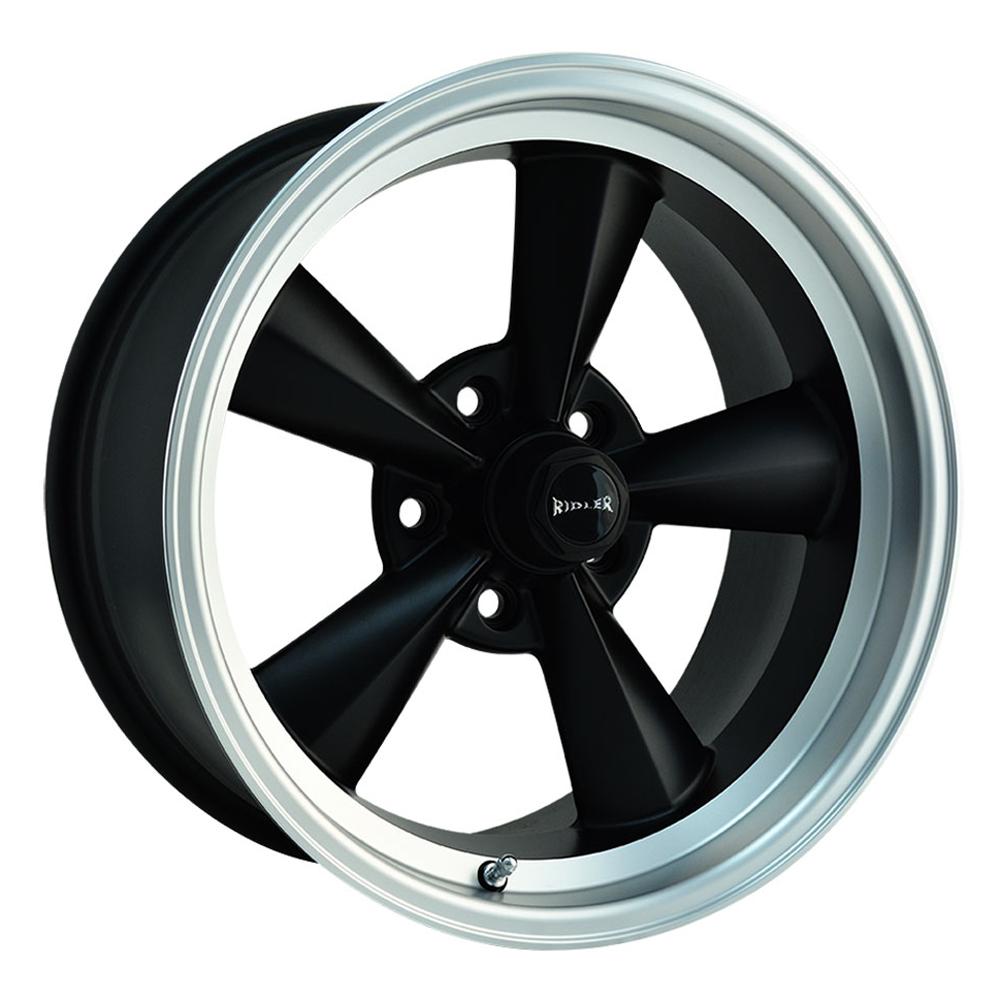 Ridler Wheels 675 - Matte Black w/Machined Lip
