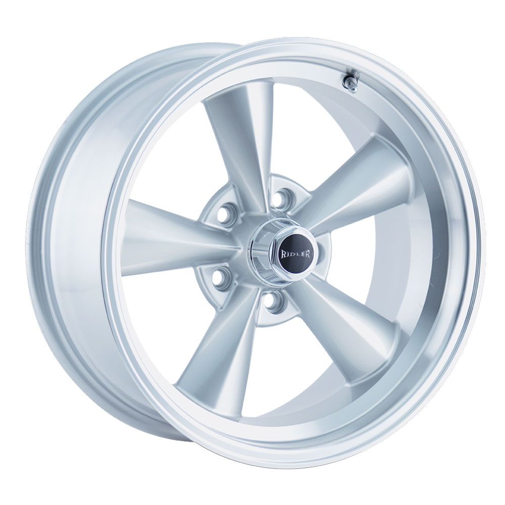 Ridler Wheels 675 - Silver w/Machined Lip