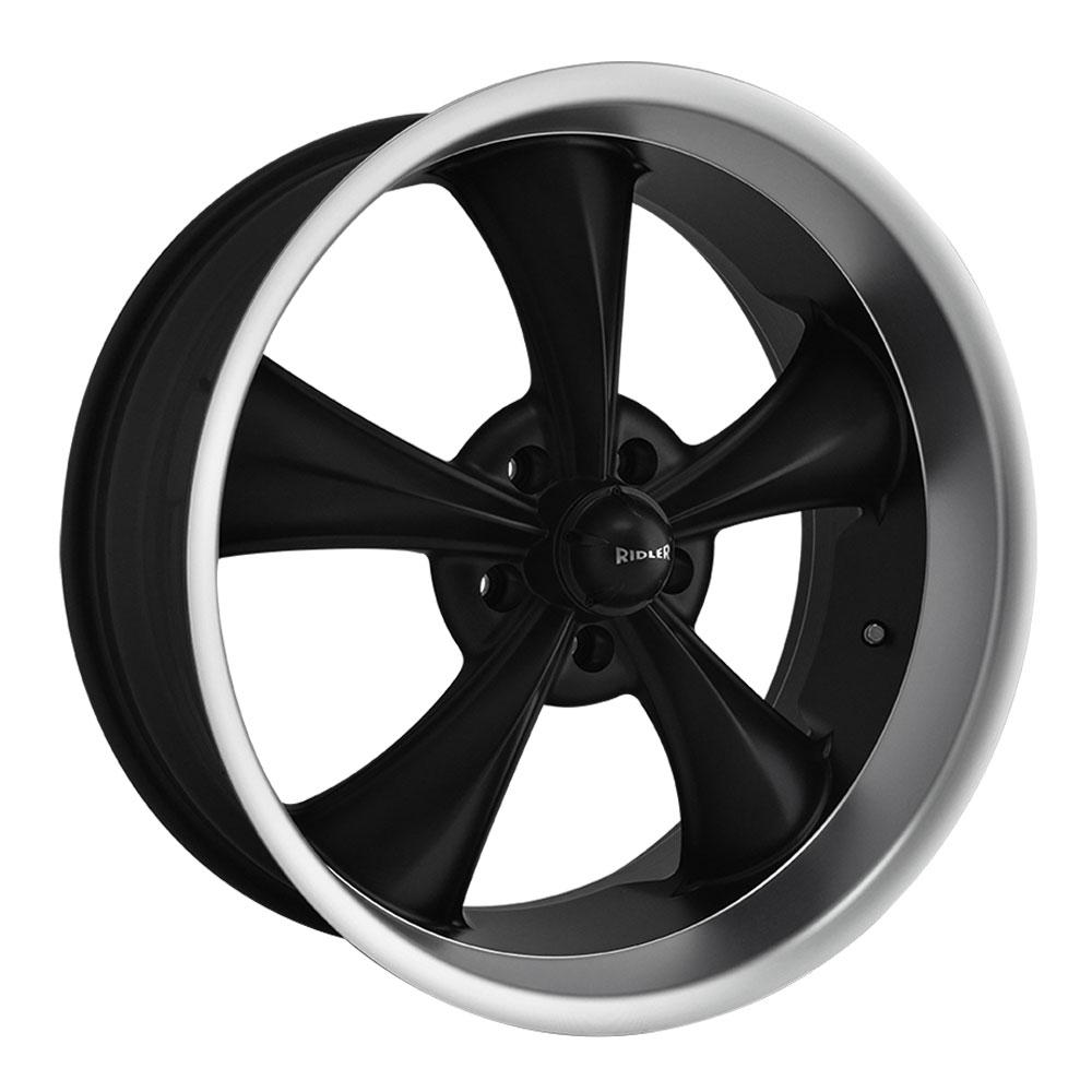 Ridler Wheels 695 - Matte Black w/Machined Lip