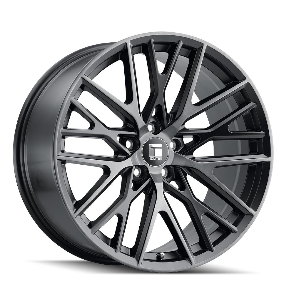 Touren Wheels TR91 3291 - Brushed Matte Blaxk W/ Dark Tint Rim