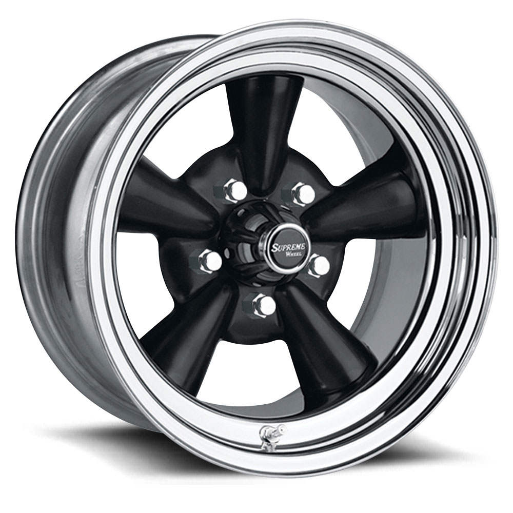 U.S. Wheel Supreme 483 - Black/Chrome Rim - 13x7