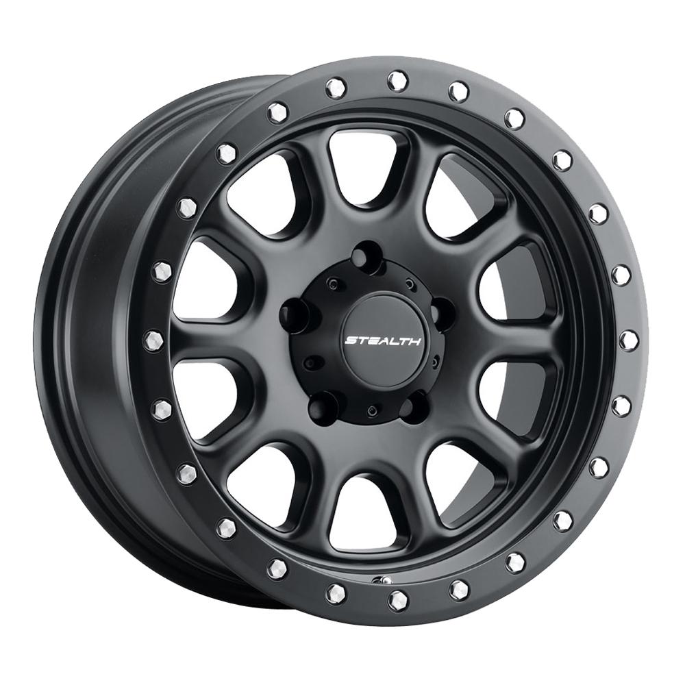 U.S. Wheel Aluminum Stealth 771BL Simulated Beadlock - Matte Black Rim
