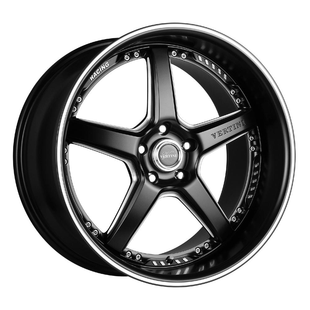 Vertini Wheels Drift - Machine Black Chrome Lip