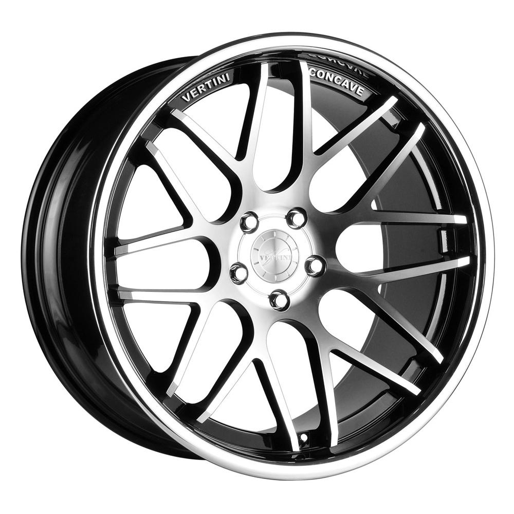 Vertini Wheels Magic - Machine Black / Chrome Lip Rim