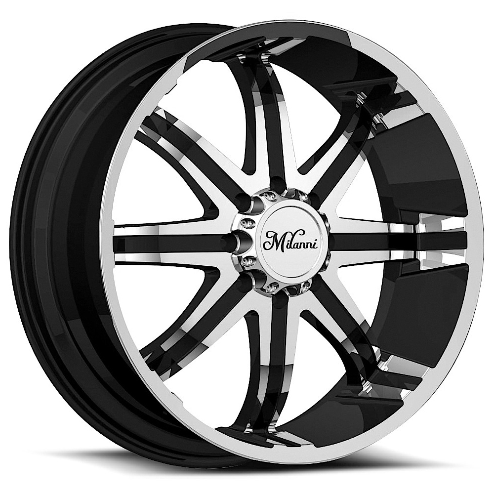 Milanni Wheels 446 Kool Whip - Gloss Black Machined Face Rim
