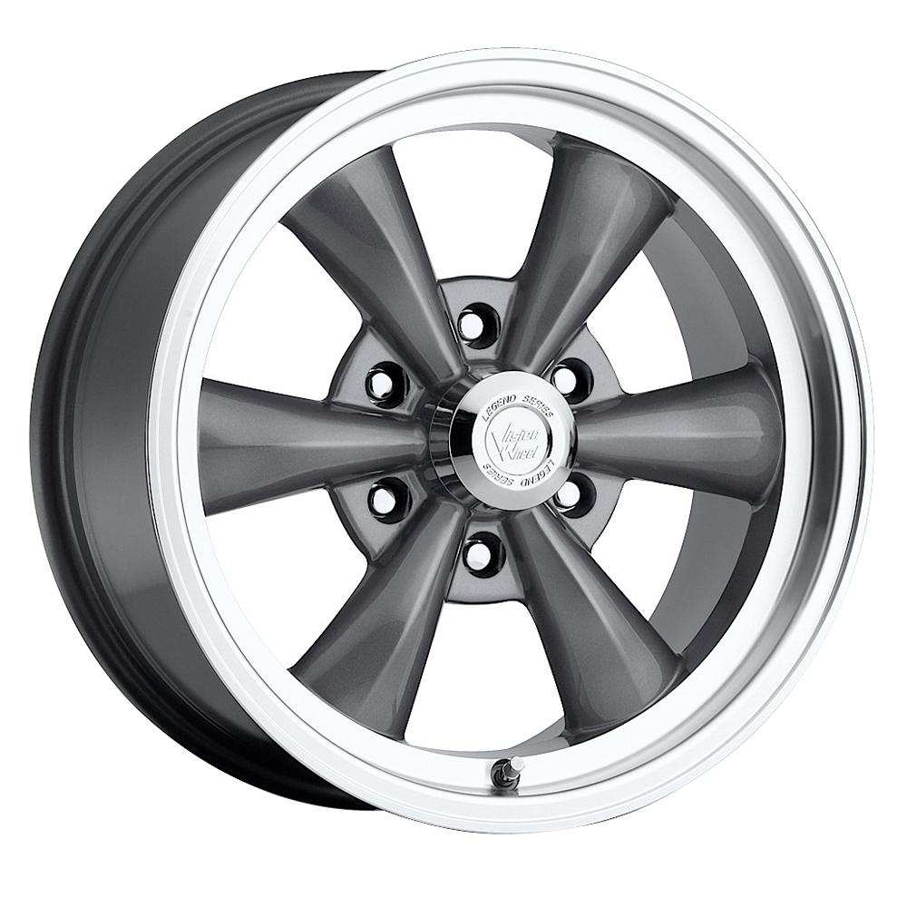 Vision Wheels 141H Legend 6 - Gunmetal Machined Lip Rim