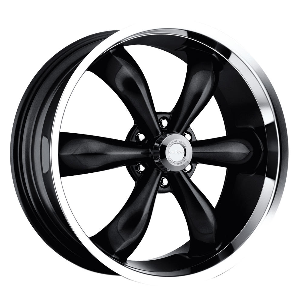 Vision Wheels 142 Legend 6 - Gloss Black Machined Lip Rim