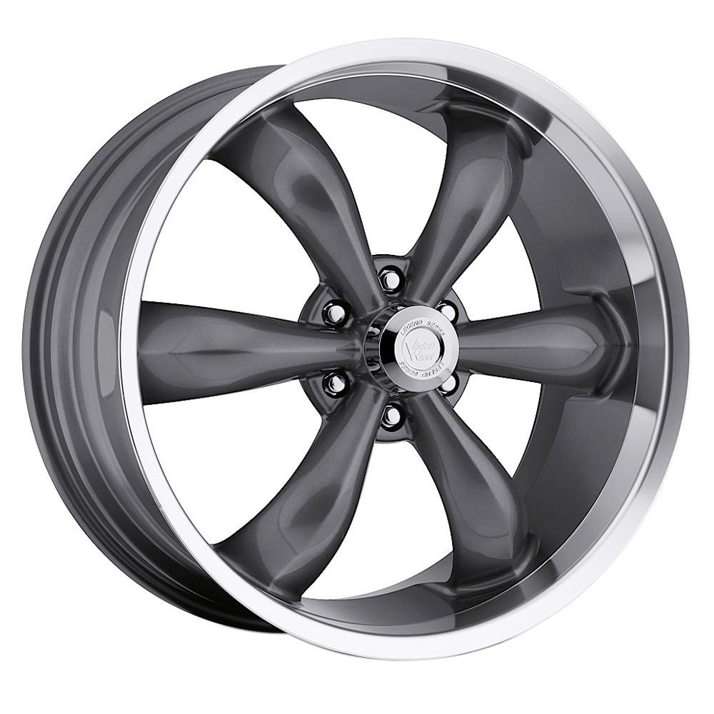 Vision Wheels 142 Legend 6 - Gunmetal Machined Lip Rim