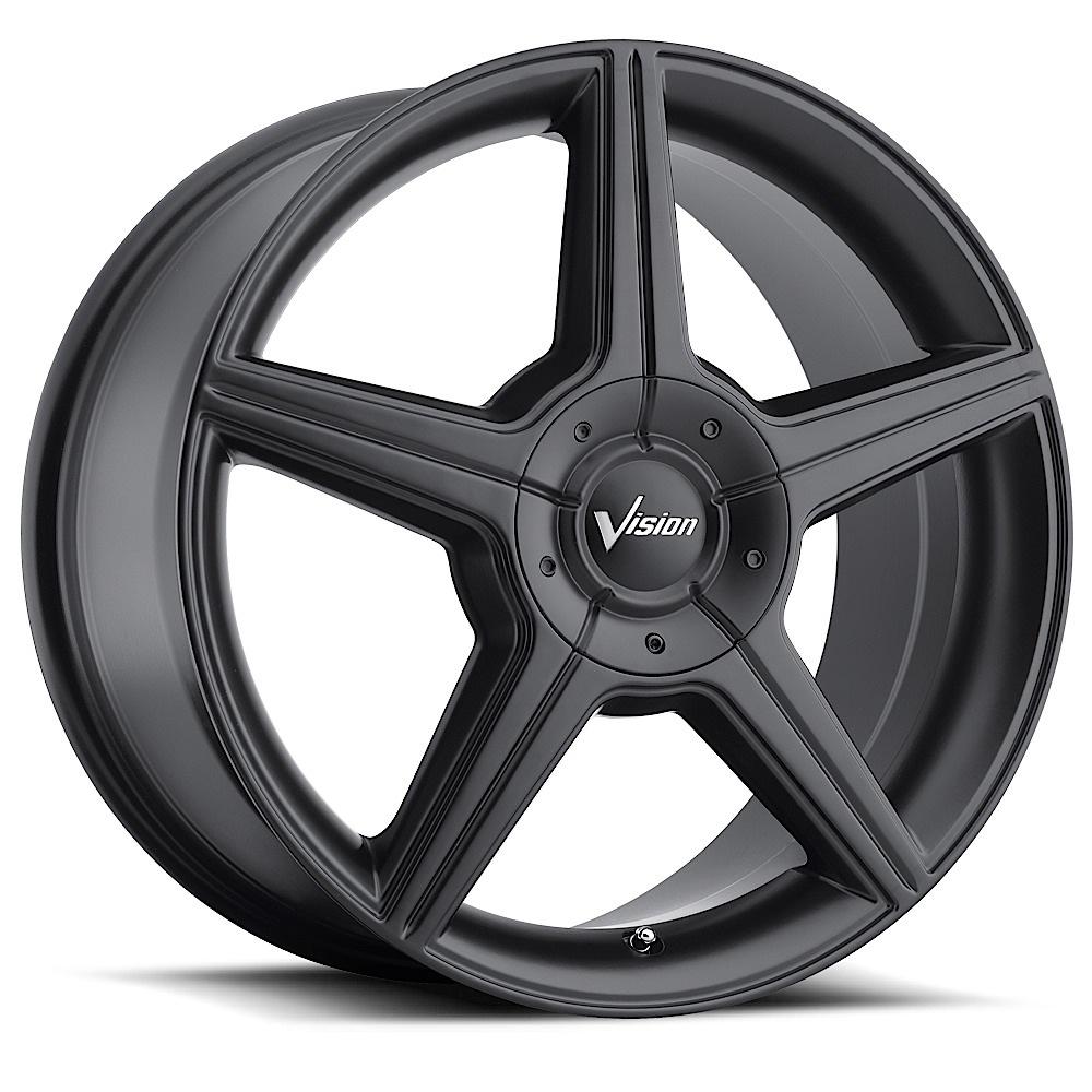 Vision Wheels 168 Autobahn - Matte Black Rim