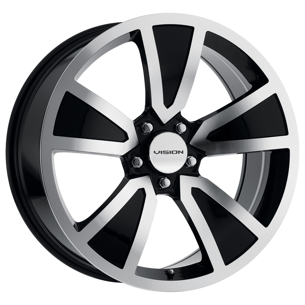 Vision Wheels 326 Shaker - Gloss Black Machined Face Rim