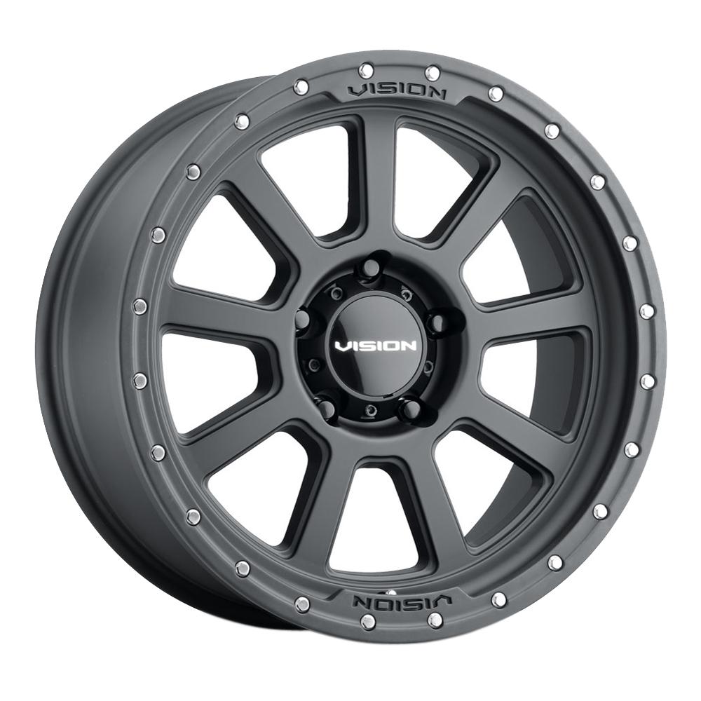 Vision Wheels 350 Ojos - Satin Black Rim