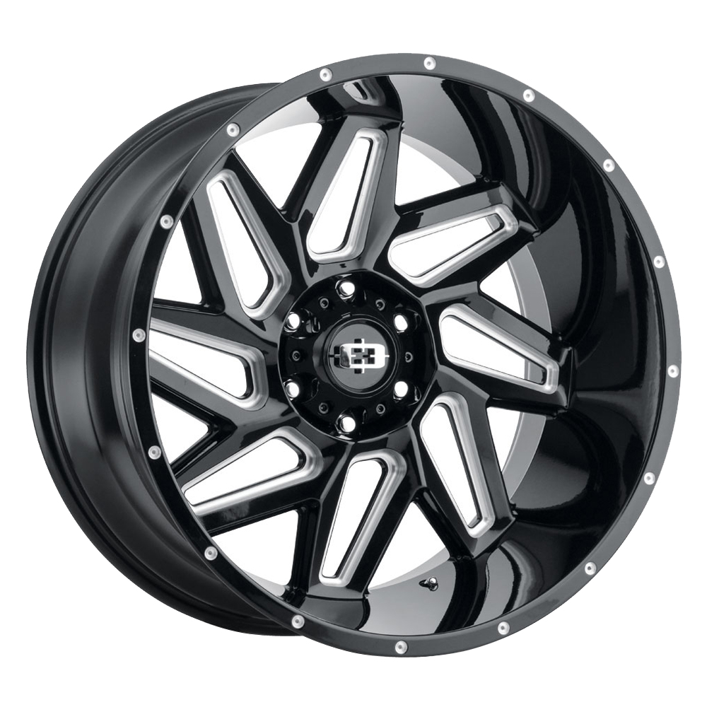 Vision Wheels 361 Spyder - Gloss Black Milled Spokes Rim
