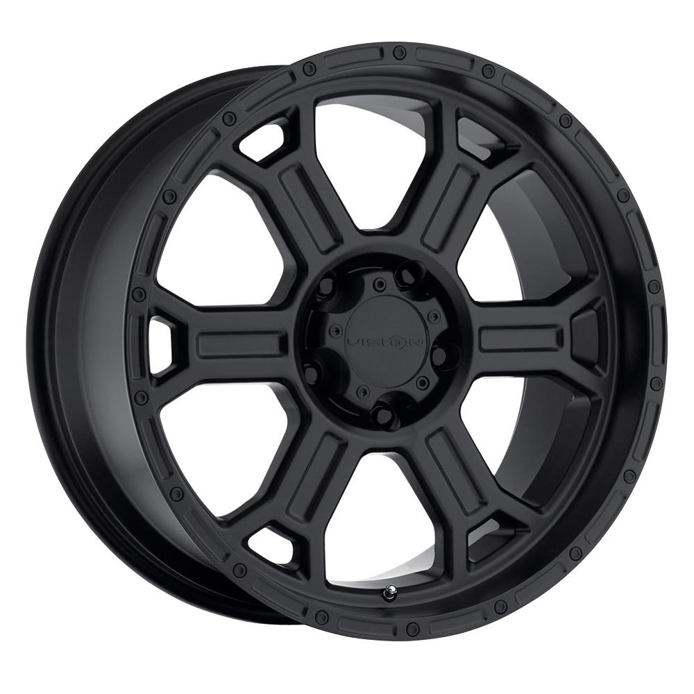 Vision Wheels 372 Raptor - Matte Black Rim