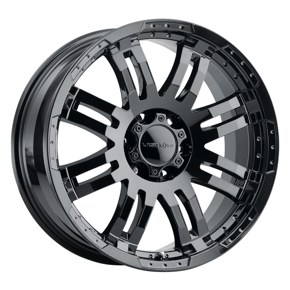 Vision Wheels 375 Warrior - Gloss Black Rim