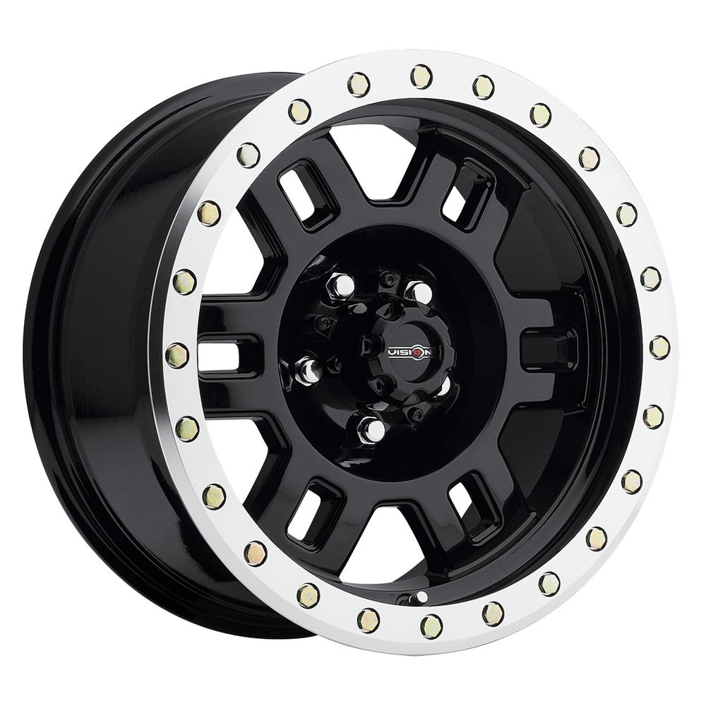 Vision Wheels 398 Manx - Gloss Black Machined Lip Rim