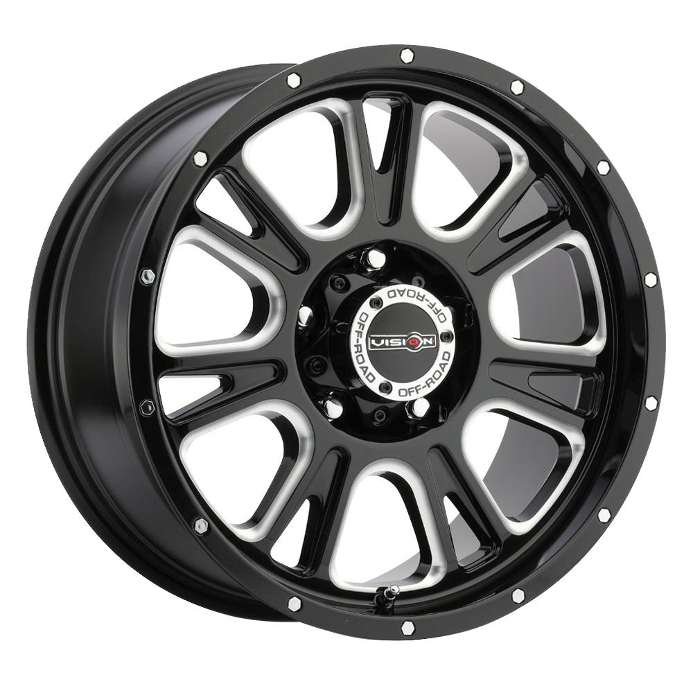 Vision Wheels 399 Fury - Gloss Black Milled Spoke