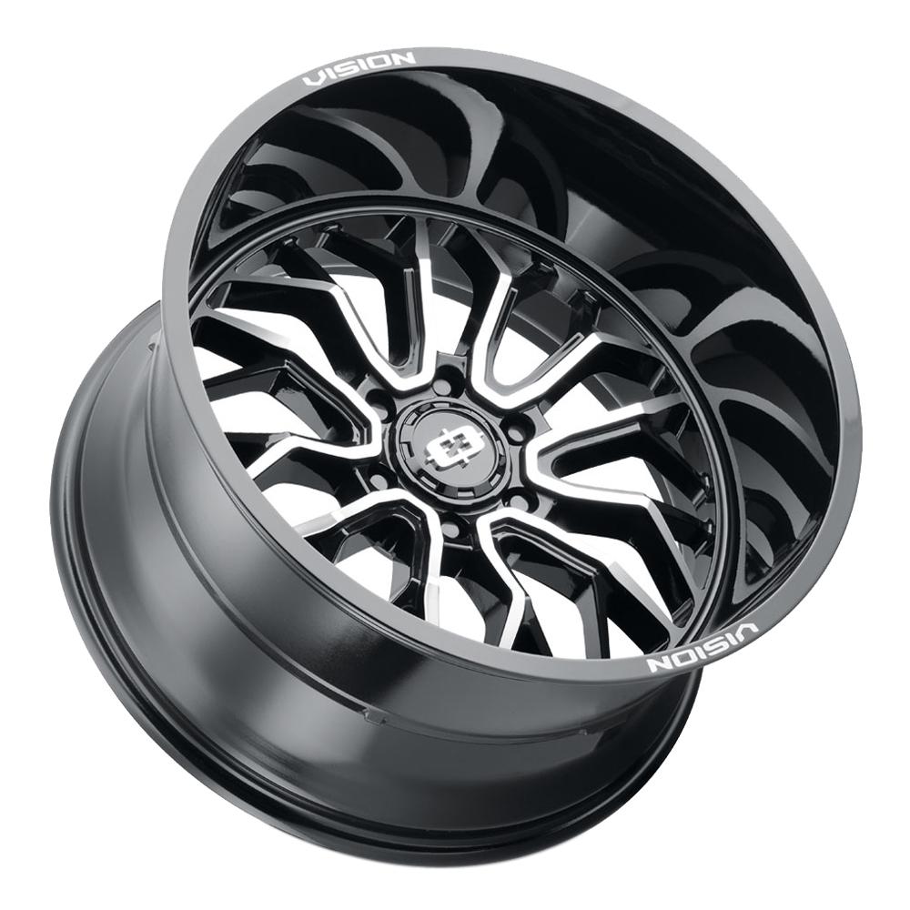 Vision Wheels 402 Riot - Gloss Black Machined Face Rim
