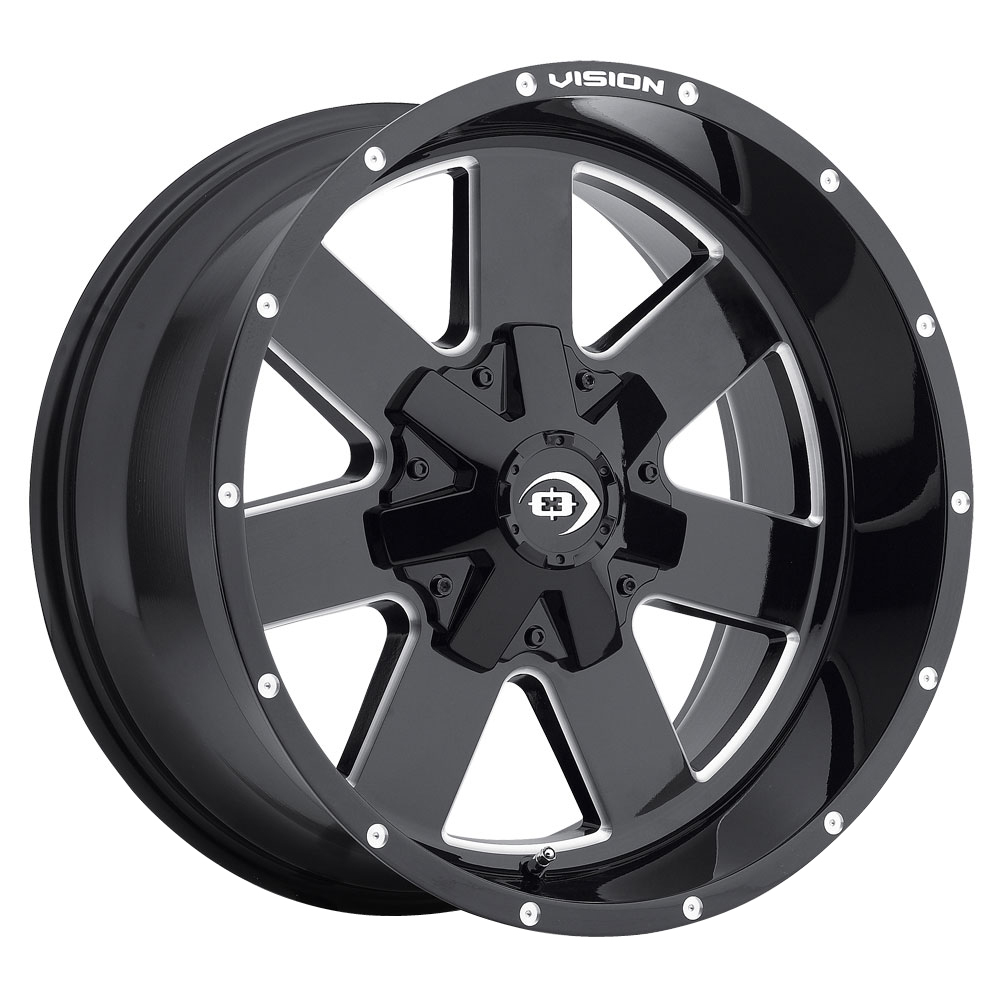 Vision Arc - Gloss Black Milled Spoke