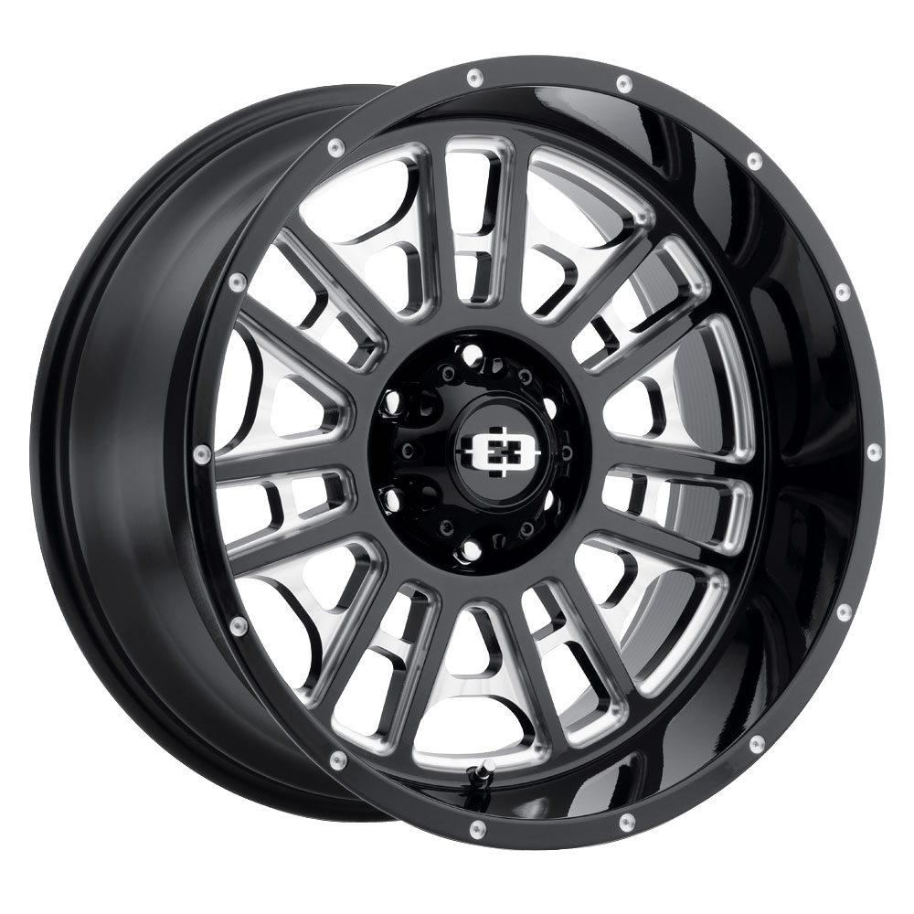 Vision Wheels Widow - Gloss Black Milled Spoke Rim