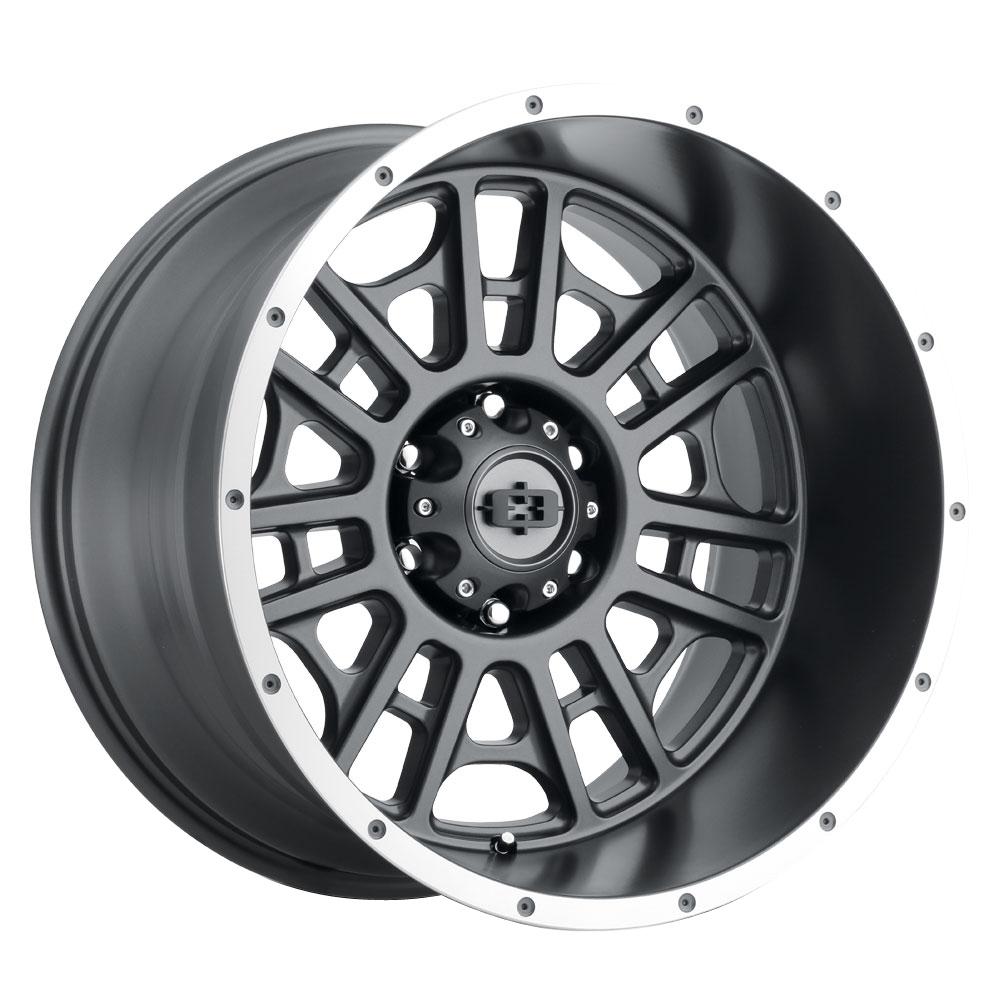 Vision Wheels Widow - Satin Grey Machined Lip Rim