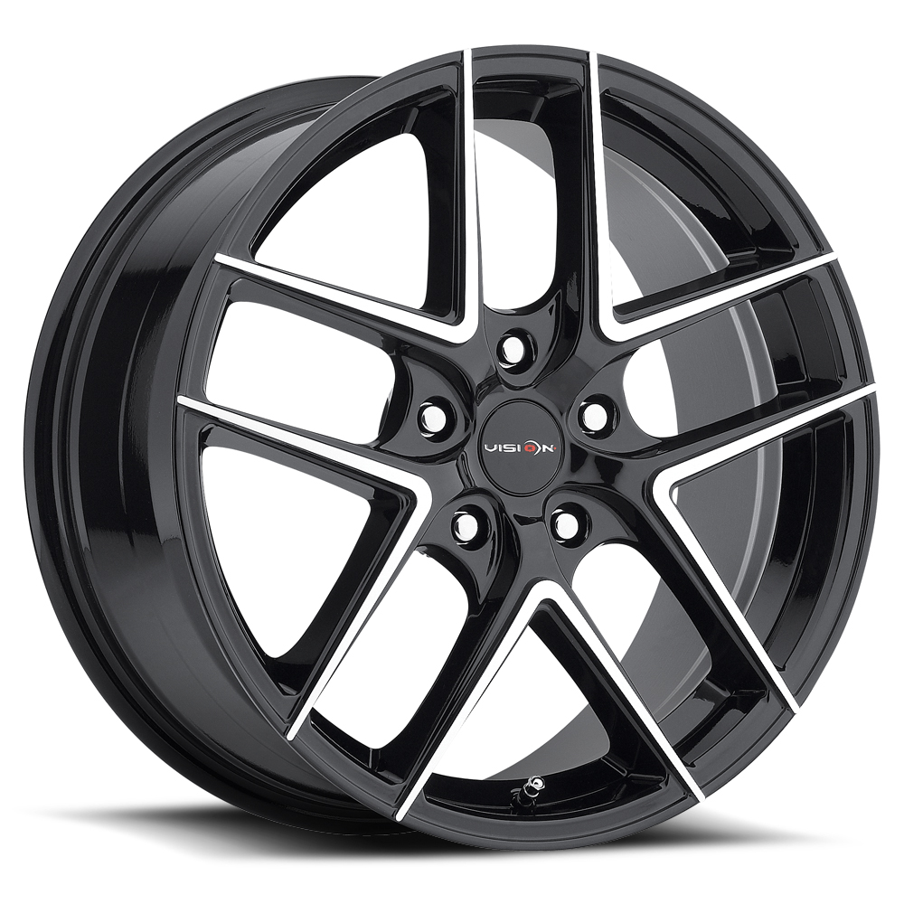 Vision Wheels 467 Mantis - Gloss Black Machined Face Rim