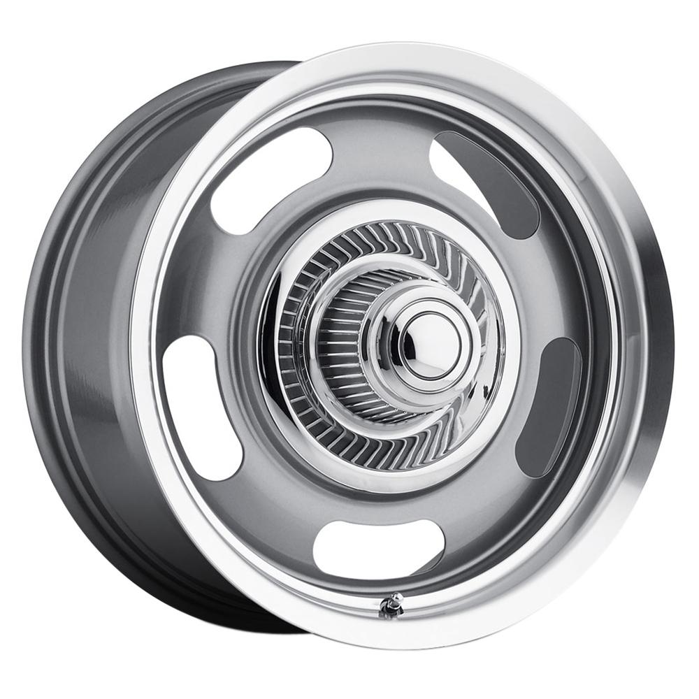 55 Aluminum Rally - Gunmetal Machined Lip