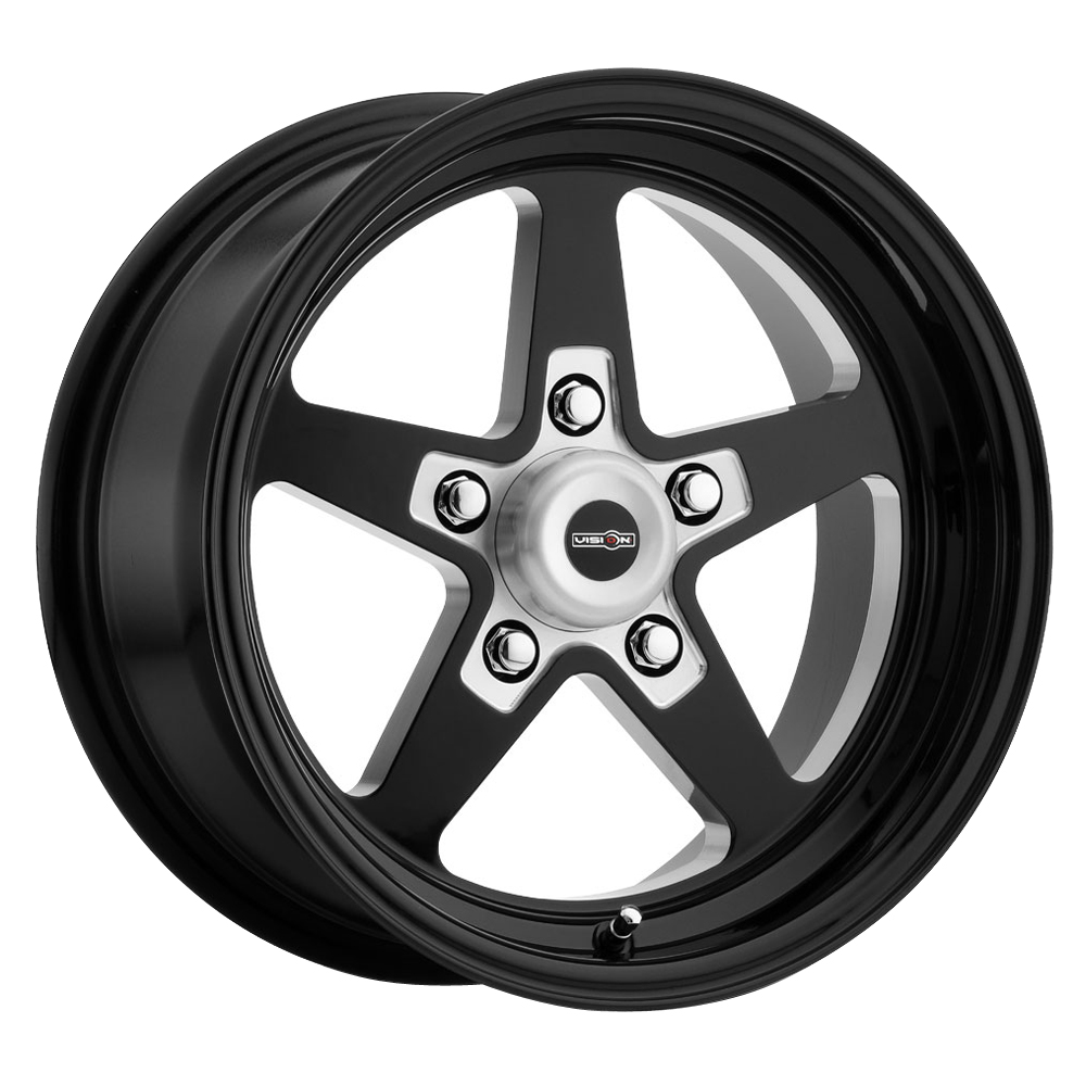 Vision Wheels Sport Star Ii - Gloss Black with Milled Center Rim