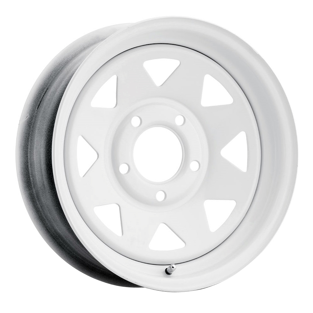 Vision Wheels 70 8 Spoke - Painted White Rim - 12x4