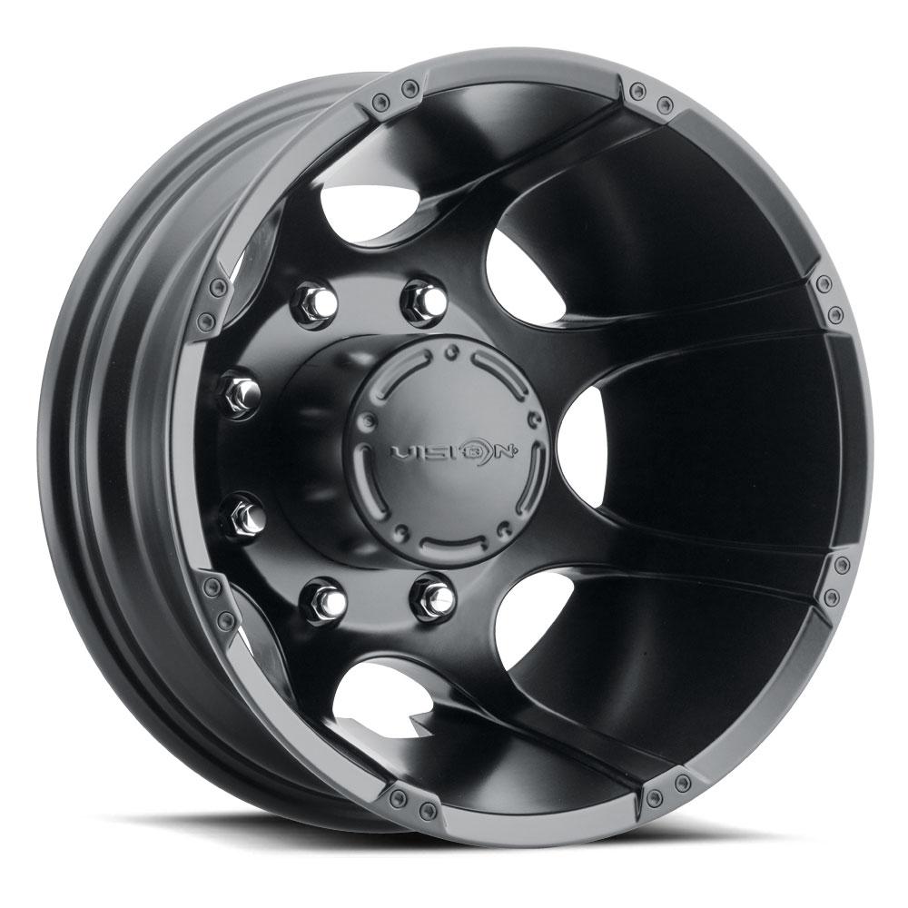 Vision Wheels 715 Crazy Eightz Duallie - Matte Black Rim