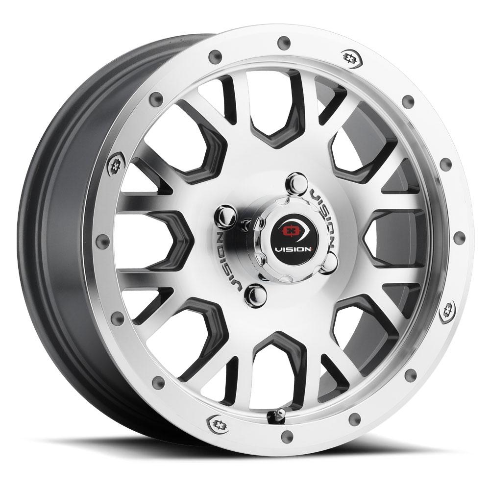 Vision ATV Wheels GV8 Invader - Gunmetal Machined Face Rim