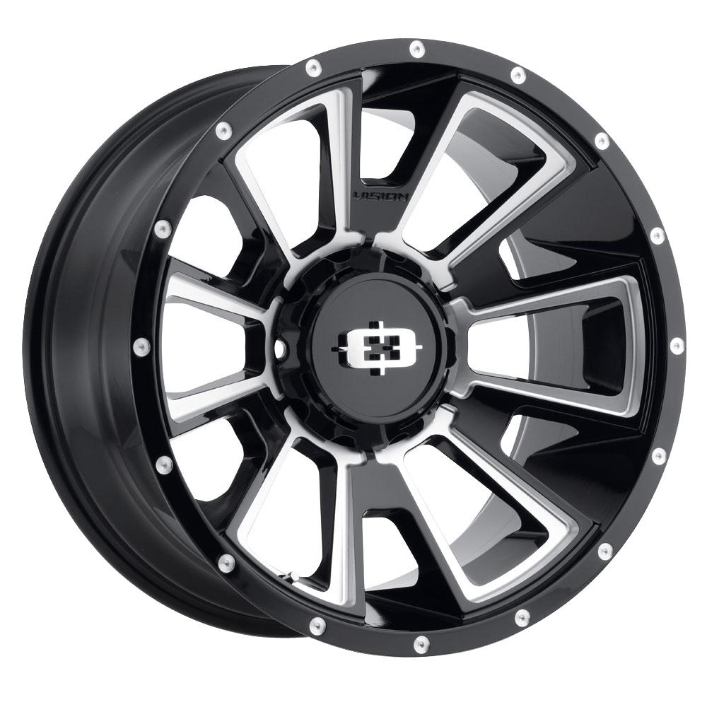 Vision Wheels Rebel - Gloss Black Milled Spoke Rim